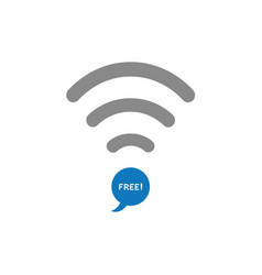 Flat design style concept of wifi symbol with vector