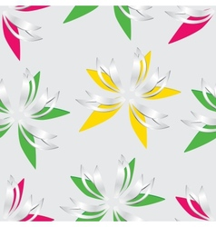 Flower cut out of paper Seamless vector image