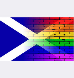 Gay rainbow wall scotland flag vector