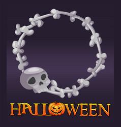 Halloween bones avatar frame scary skull for ui vector