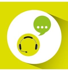 Headphones bubble speech service vector