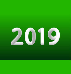 inflated number white figures of 2019 new year vector image