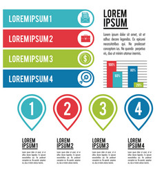 Infographic various diagrams vector