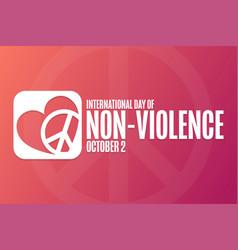 International day of non-violence october 2 vector