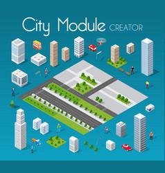 Isometric set module city vector