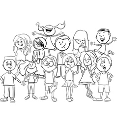 Kids or teens coloring page vector