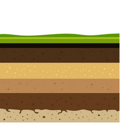 Layers of soil vector