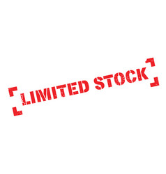 Limited stock rubber stamp vector