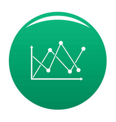 line diagram icon green vector image