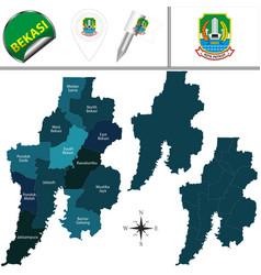 map of bekasi indonesia vector image