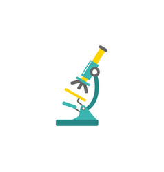 microscope flat icon medicine and research vector image