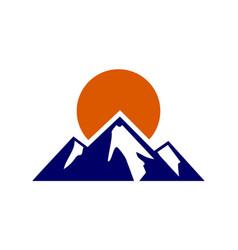 mountain abstract logo icon vector image