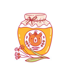 organic honey vector image