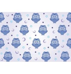 owl wallpaper vector image vector image