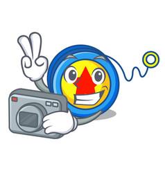 Photographer yoyo mascot cartoon style vector