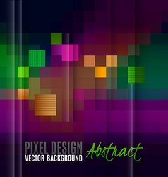 Pixel abstract background as colorful mosaic vector image
