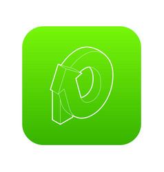 Rotation loop icon green vector