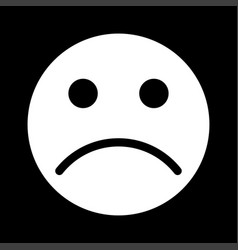sad emoticon white color icon vector image