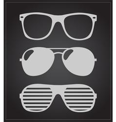 set sunglasses background vector image