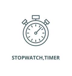 stopwatchtimer line icon linear concept vector image