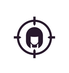 target audience icon on white vector image