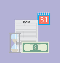 Time to pay tax flat concept vector