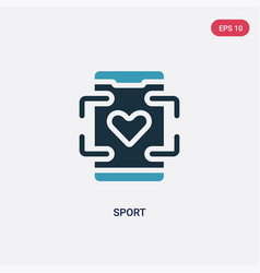 two color sport icon from mobile app concept vector image
