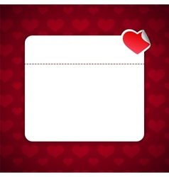 Valentines Day Background With Copy Space vector image