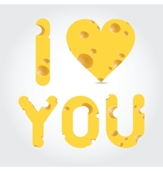 valentines day - cheese vector image