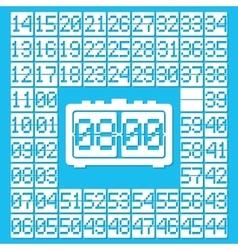 Wall flap clock icon vector