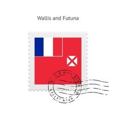 Wallis and Futuna Flag Postage Stamp vector