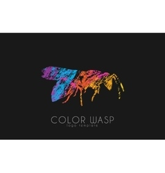 Wasp logo design color wasp design creative logo vector