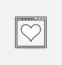 web page with heart line icon people vector image