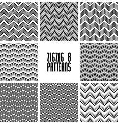 Zig zag black and white geometric seamless vector image