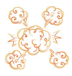 colorful cartoon style bang sketch icon vector image