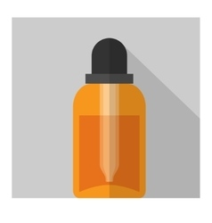 Flat bottle vector
