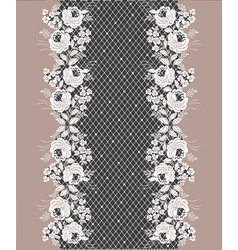 lace floral decorative border vector image