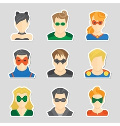 Set of avatar stickers vector image