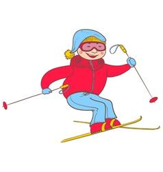 skier vector image vector image