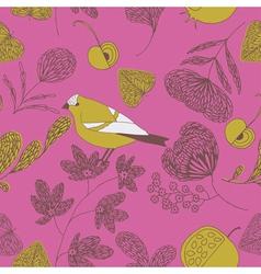 sweet cute birds vector image vector image