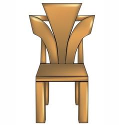 designer chair1 vector image vector image