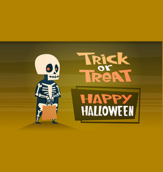 happy halloween banner holiday decoration horror vector image vector image