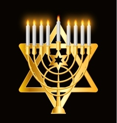 Happy Hanukkah Jewish Background vector image vector image