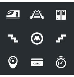 Set of Subway vector image
