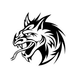 Angry dragon vector image vector image
