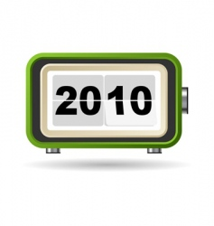 happy new year 2010 vector image