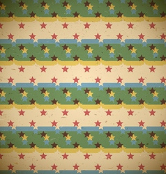 Seamless pattern with shifted stars vector image