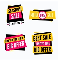 Special offer sale tag discount symbol set vector image