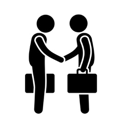 Business Mans Handshake Greetings Gesture Stick vector image vector image