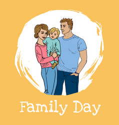 international family day vector image vector image